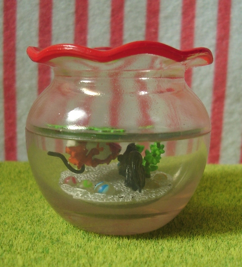 Japanese dollhouse miniatures all miniature toys pets for Fish bowl pets