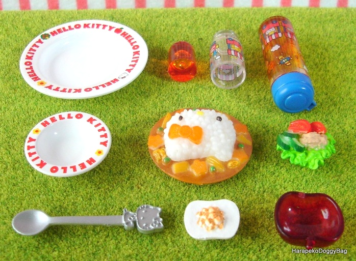 ab0ec4444 ... Dollhouse, Doll House, Puchi, Mini, Sanrio, Hello Kitty, My Meals,  Kawaii, Cute, Food, Curry, Rice, Salad, Dessert, Apple, Glass, Dish, Plate,  Bottle.